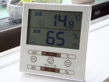 今朝の気温 6:30AM