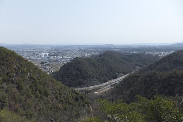 岩棚からの景色